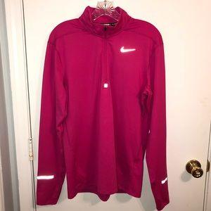 Men's Nike Running Pink Quarter Zip Medium